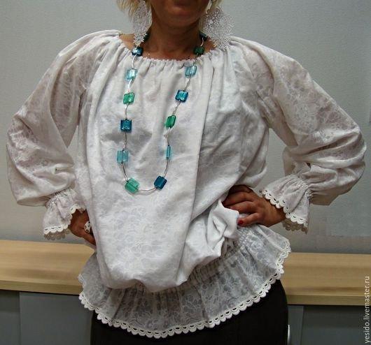 Блуза крестьянка
