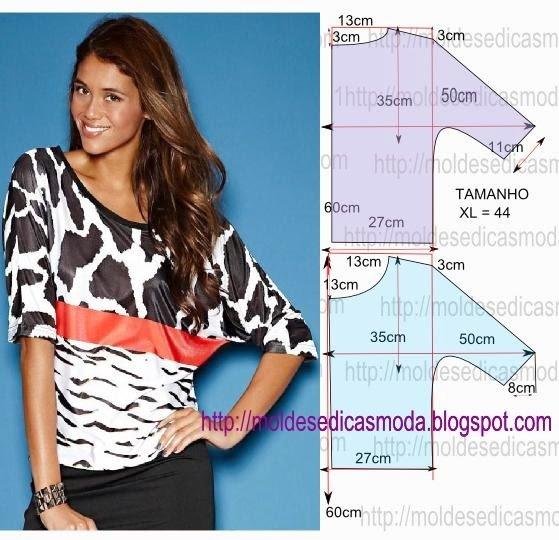 1477767471_blusa-fc381cil Построение выкройки рукава летучая мышь для платья