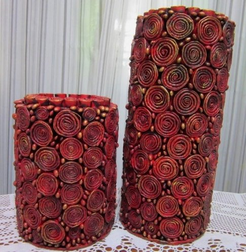 1478700905_227767 Напольная ваза своими руками (53 фото): как сделать большую из бросового материала, ткани, что в нее поставить, декор