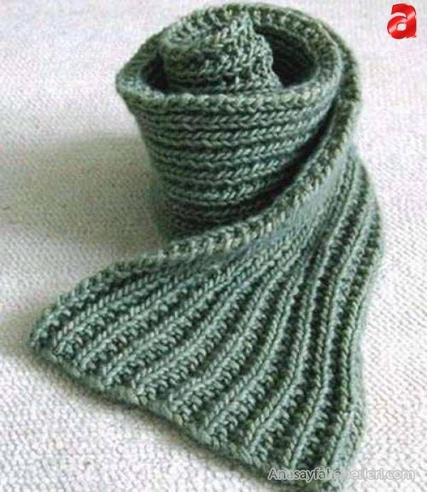 шарф английская резинка спицами по фото