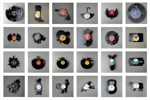 Что можно сделать из виниловых пластинок: ваза и цветочный горшок, картина, часы и сумка своими руками