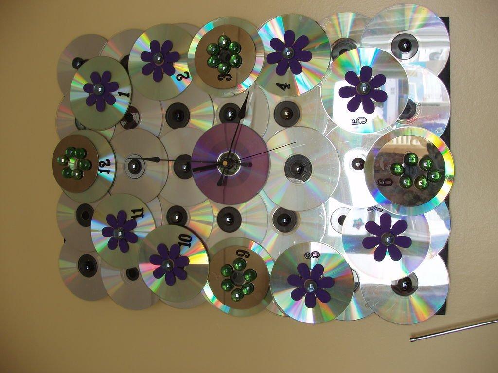 Изделия из старых дисков своими руками фото