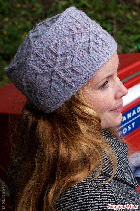 Вяжем шапку кубанку женскую спицами с описанием
