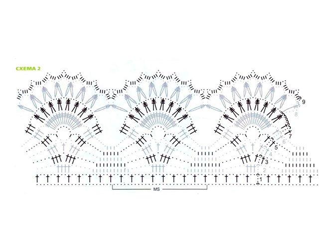 Схема купальника вязаного крючком