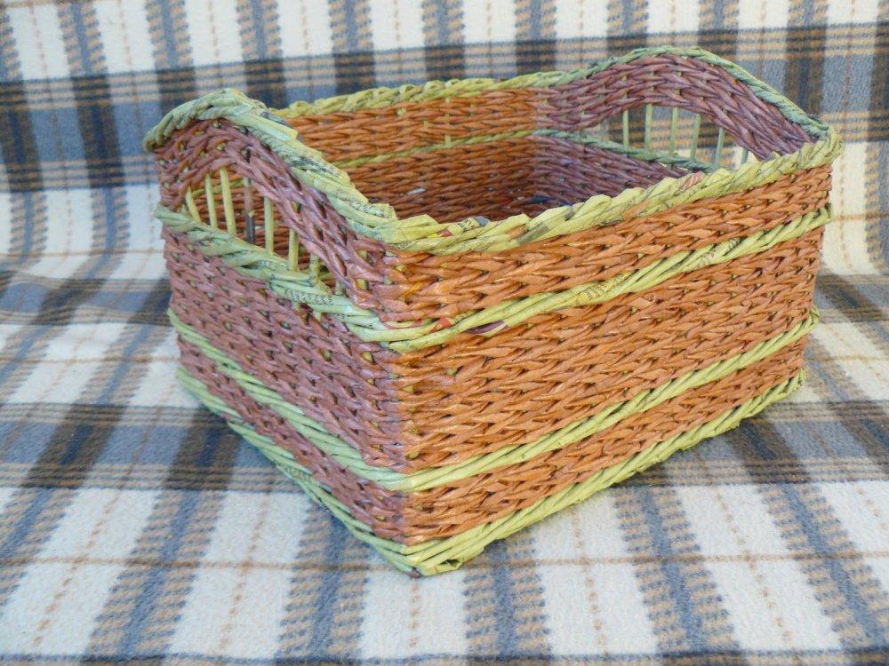 1481212585_p1060076 Плетение корзинок из газетных трубочек: узоры, схемы, описание, мастер класс