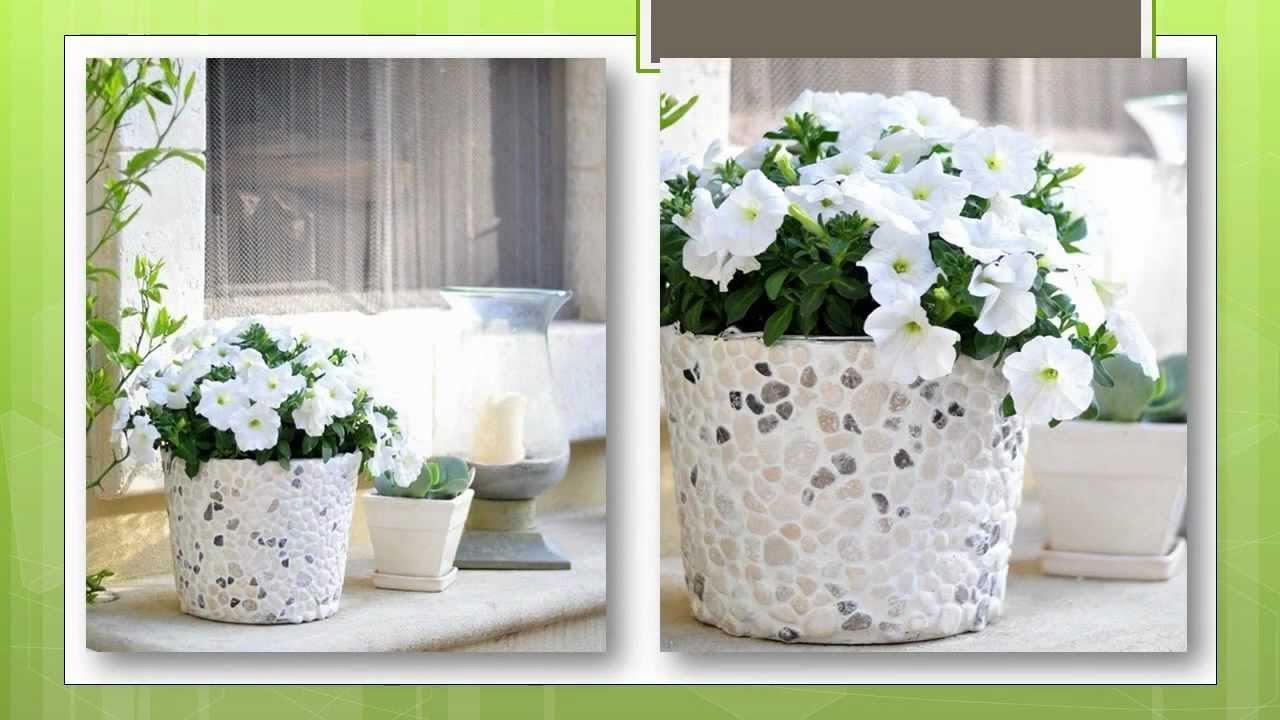 Сделать горшок для цветов своими руками из подручных материалов