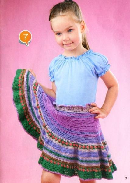 Яркая разноцветная юбочка для девочки