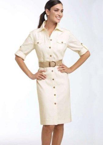 85b3326b326 Платье в стиле сафари  выкройка с фото