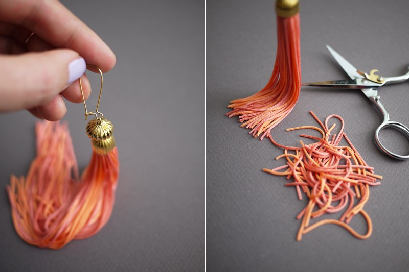 Сережки кисточки своими руками