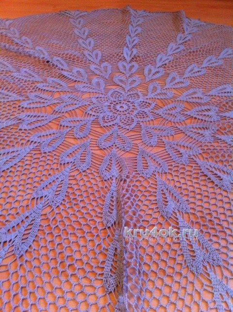 скатерти крючком со схемами филейное вязание