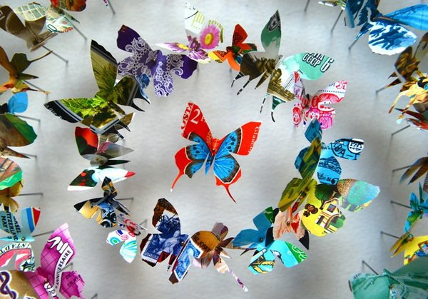 Объемная бабочка своими руками