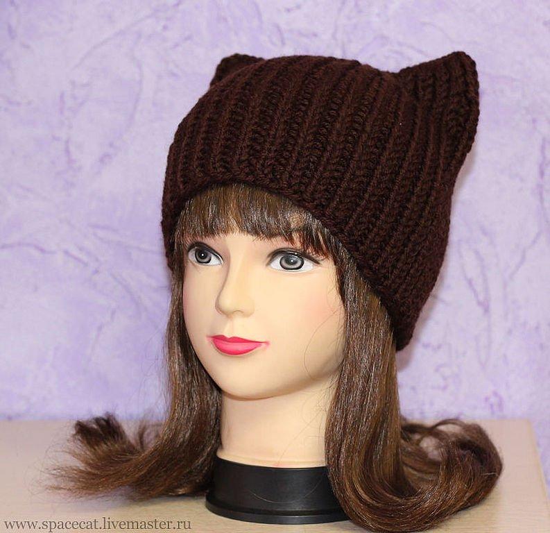 шапка с кошачьими ушками схема и описание как сделать для девочки