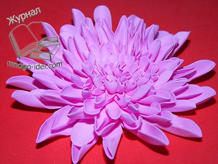 Хризантемы из фома мастер класс