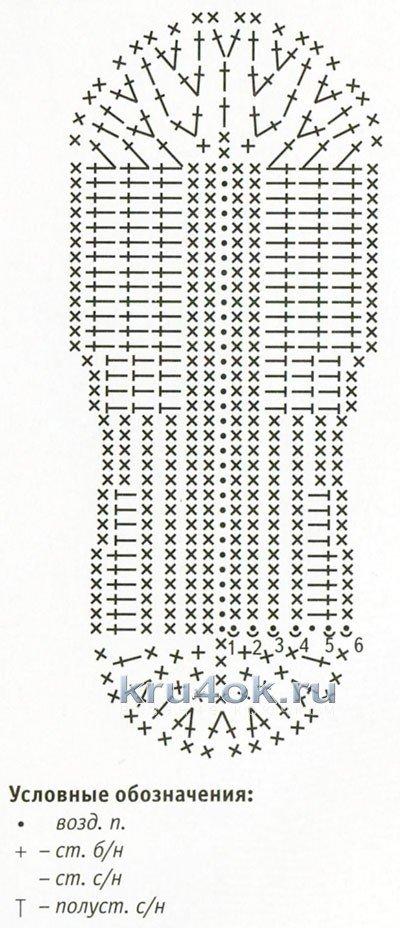 Следки крючком со схемами