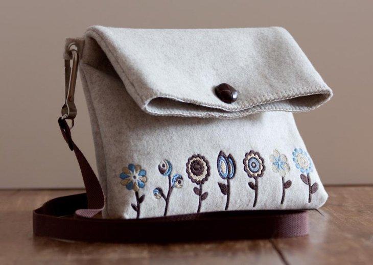 2613010a4efc Рассмотрим, как шьётся сумка из фетра быстро и просто своими руками, в  подборке пошаговой с выкройками её различных типов ознакомимся в процессе  ...