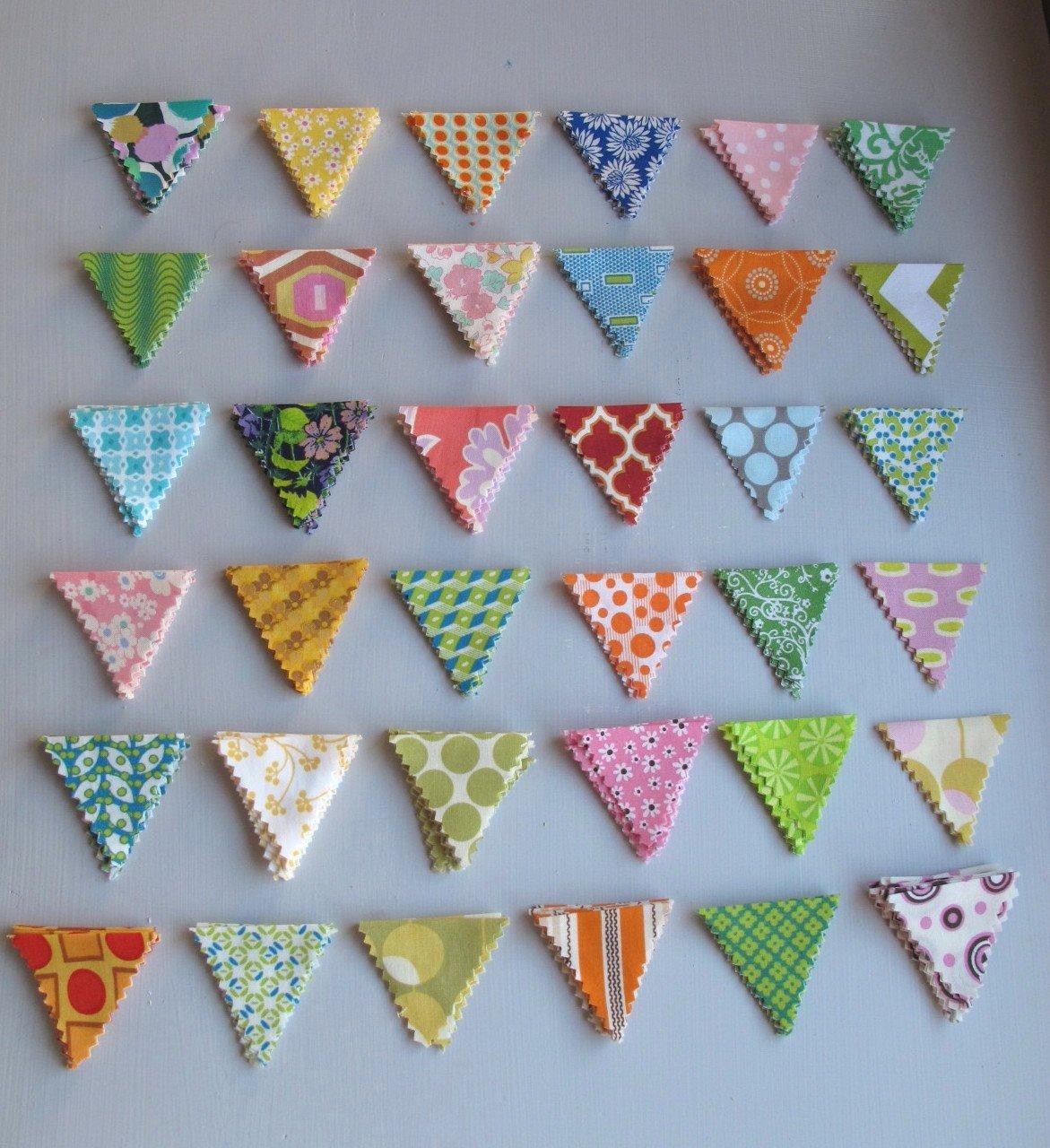 Треугольные флажки своими руками