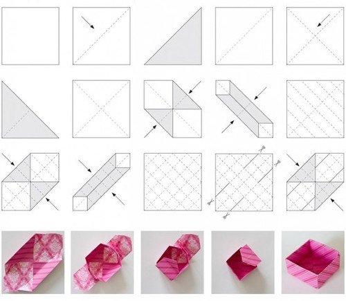 1490697094_klassicheskaja-upakovka-dlia-nebolshogo-podarka1 Коробка для конфет своими руками: делаем из бумаги и из картона