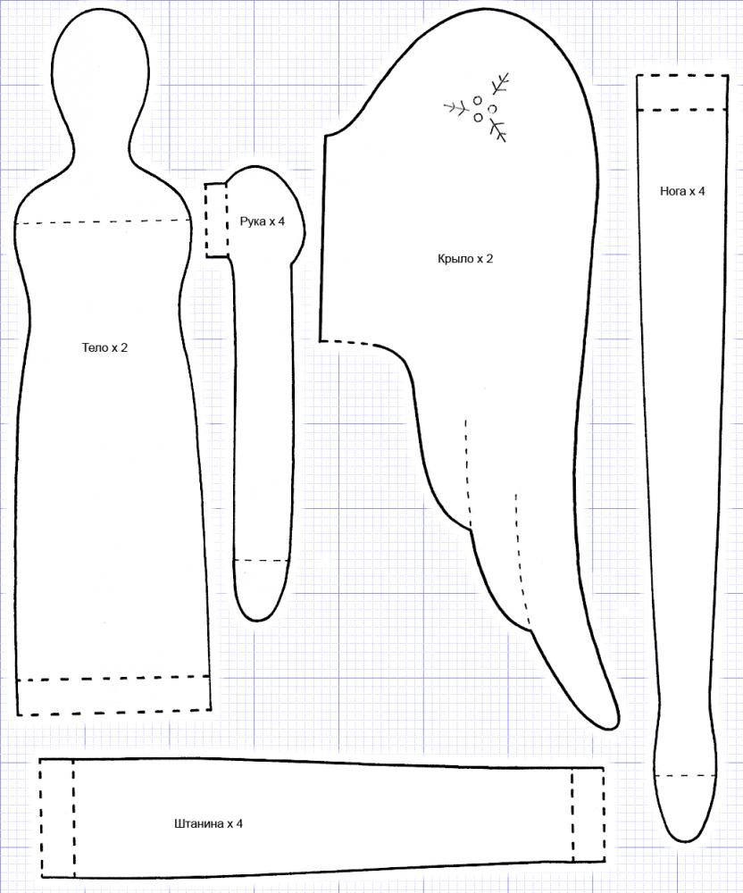 Кукла тильда выкройки в натуральную величину
