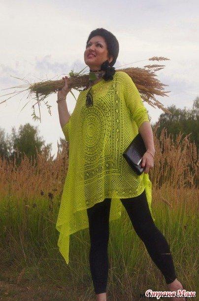туника в стиле бохо крючком схемы и варианты вязания для полных дам
