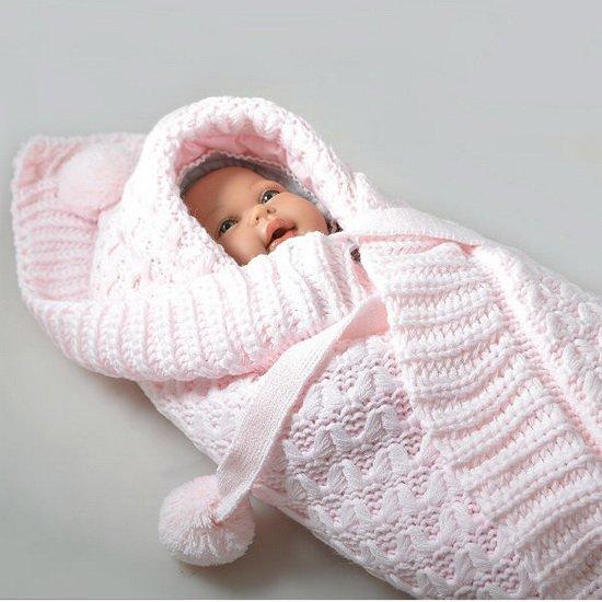 1491936774_konvert9 Конверт для новорожденного зимний: вязание спицами