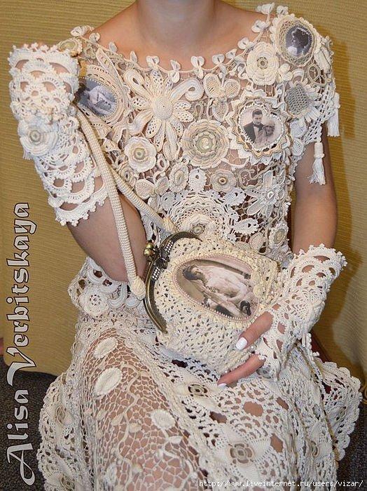 платье из ирландского кружева со схемами и описанием пошаговый мк с