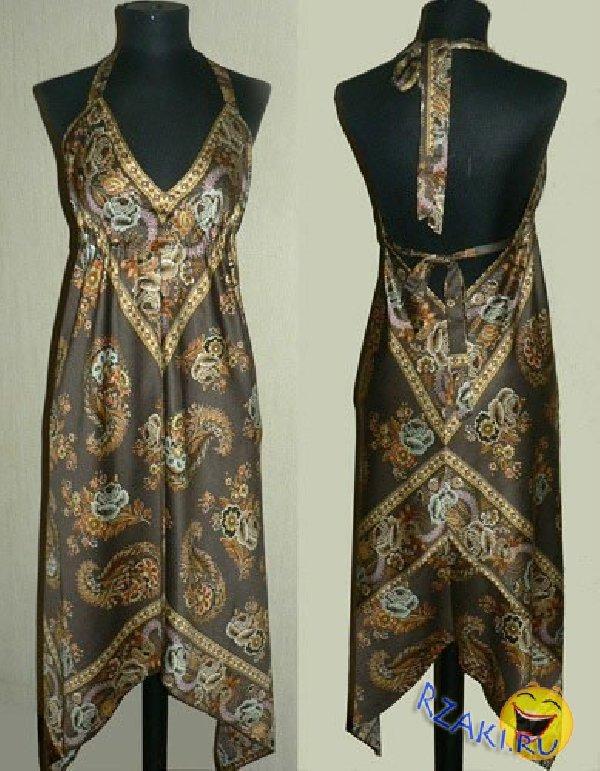 128c4f95149 Платье из платка своими руками  поэтапный МК с пошаговыми фото и видео