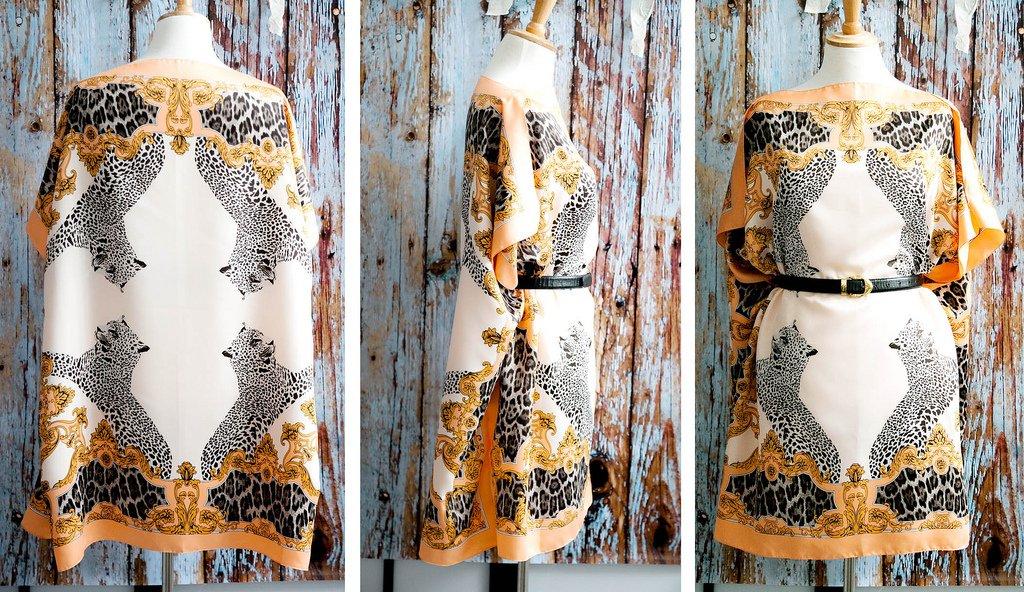 ca72d003f57 В условиях материального затруднения или дефицита вещей можно изготовить  платье из платка быстро и пошагово своими руками.