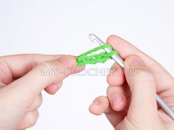 Вязание петельками крючком