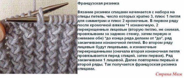 виды вязания резинки спицами со схемами пошаговые мк с фото и видео