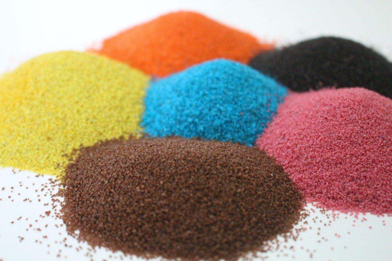 Цветной песок из манки своими руками