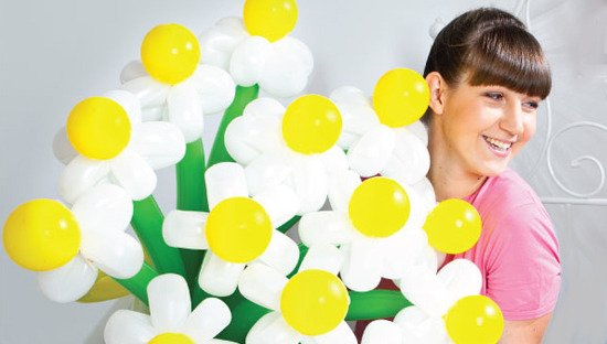 Цветы из шариков своими руками мастер класс видео