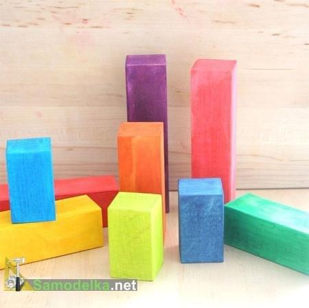 Поделка из деревянных кубиков