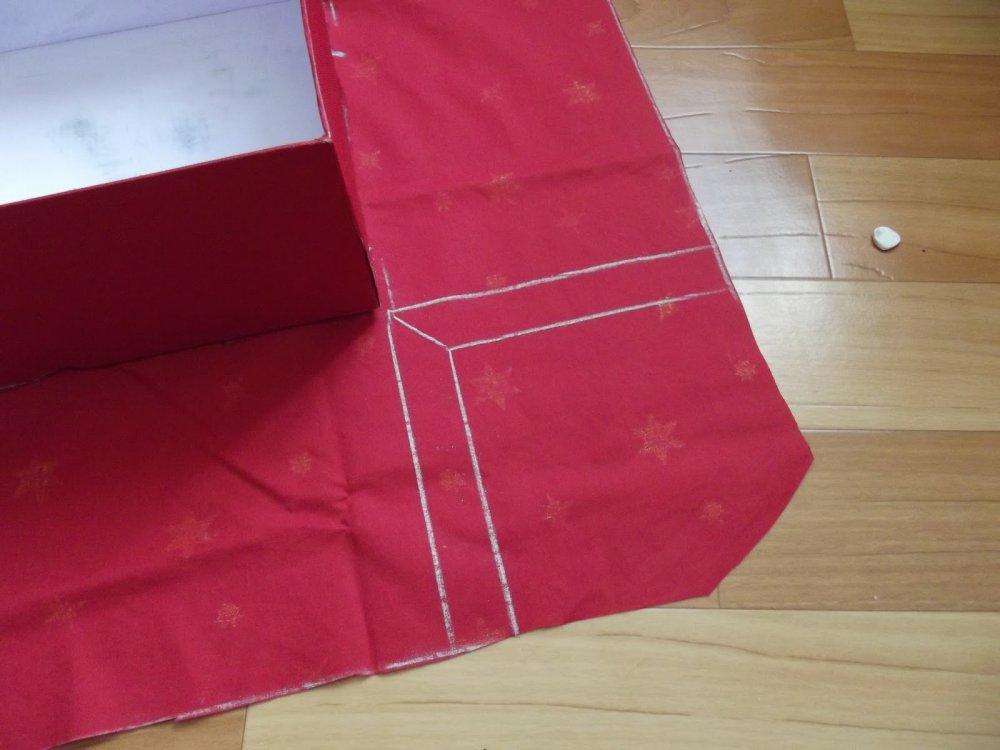 Декор коробки своими руками тканью