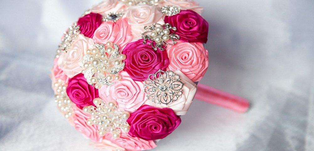 Цветов, свадебный букет своими руками фото