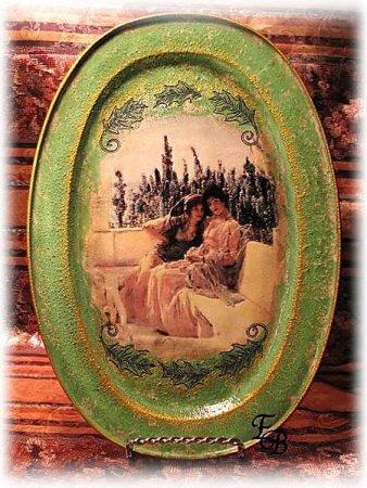 1538365253_img_7268_11 Декупаж своими руками в стиле шебби шик. Декупаж металлического подноса: стиль деревянный прованс